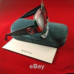 Gucci Gg0178s 007 Lunettes De Soleil Multicolores Transparentes Vertes, Rouges Et Carrées