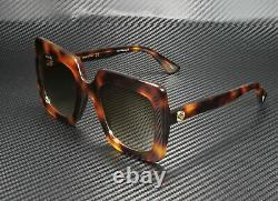 Gucci Gg0328s 002 Rectangular Square Havana Brown 53 MM Lunettes De Soleil Pour Femmes
