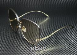 Gucci Gg0352s 002 Rectangulaire Carré D'or Brown 99 MM Lunettes De Soleil Femme