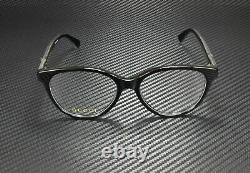 Gucci Gg0379o 001 Round Black Crystal Black Demo Lens 52 MM Lunettes Pour Femmes