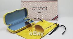 Gucci Gg 0206sk 003 Femmes Lunettes De Soleil En Or