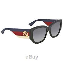 Gucci Graduel Gris Lunettes De Soleil Cat Eye Gg0276s-001 53 Gg0276s-001 53