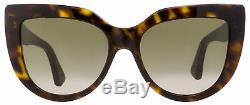 Gucci Lunettes De Soleil Cateye Gg0164s 002 Havana 53mm 0164
