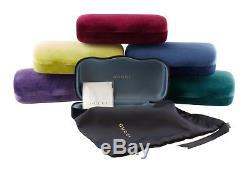 Gucci Lunettes De Soleil Pour Femmes Gg0225s 001 Endura Gold Green Red Cadre Grey Lens
