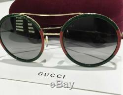 Gucci Urban Gg0061s Lunettes De Soleil 003 Gold 100% Authentique
