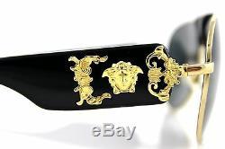 La Piste New Versace Véritable Black Gold Medusa Aviator Ve 2150q 100287