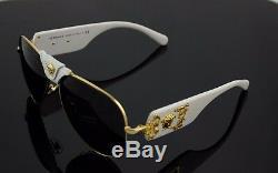 Limited Edition Véritable Versace Piste Aviator Lunettes De Soleil Blanc Ve 2150q 134187