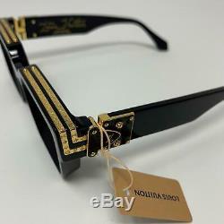 Louis Vuitton X Virgil Abloh Noir Millionaires 1.1 Lunettes De Soleil Supreme Limited