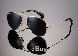Ltd Edn Rayban 22kt Dore Pliantes Lunettes De Soleil Aviateur 58mm Rb 3479kq 001 / N5