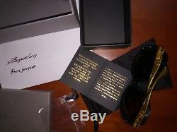 Lunettes Christian Dior Glossy Solid Gold 18 Kt Lim. Edition 500, Rarest, Nouveau