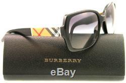 Lunettes De Soleil Burberry Be 4160 3433 / 8g Noir / Gris Dégradé 58 MM
