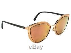 Lunettes De Soleil Chanel Rx Pour Cadre Seulement 4222 C. 117 / 4z Gold Cat Eye Italie 5420 140