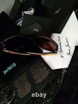 Lunettes De Soleil Christian Dior Glossy Solid Gold 18 Kt Masterpiece 500, Rares, New