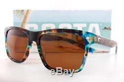 Lunettes De Soleil Costa Del Mar Aransas Shiny Ocean Tort Copper 580g Polarisées