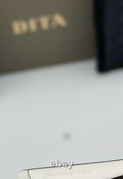 Lunettes De Soleil Dita Metamat Dts526-59-01 Lentilles Gradient Brunes De Cadre D'argent 59mm Nouveau