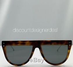 Lunettes De Soleil Fendi Flat Top Ff0372 / S Havana Silver Frame Mirror 086t4 55mm Nouveau