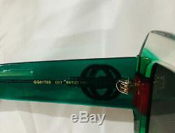 Lunettes De Soleil Gucci Authentique New Gg0178s Cadres Transparent Objectif Gris