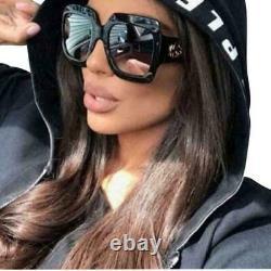 Lunettes De Soleil Gucci Gg0053s 001 54mm Oversize Square Black Women