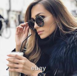 Lunettes De Soleil Gucci Gg0113s 001 Black Gold L'aveugle Par Amour Authentic