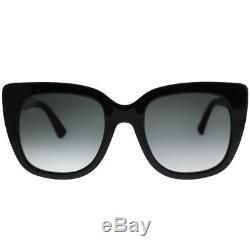 Lunettes De Soleil Gucci Gg0163s 001 En Plastique Noir Pour Yeux De Chat