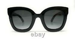 Lunettes De Soleil Gucci Gg0208s 001 Black Grey Gradient Femme 49 MM