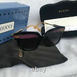 Lunettes De Soleil Gucci Gg0281 Noir/or