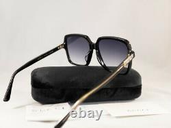 Lunettes De Soleil Gucci Gg 0375 S 001 Black Gradient Authentiques
