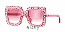 Lunettes De Soleil Ladys Authentic Gucci Pour Femme Gg148s 003 Pink Oversized Square