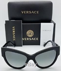 Lunettes De Soleil New Versace Ve4322 Gb1 / 11 Noir Gris Medusa 4322 Cateye Cat Authentic
