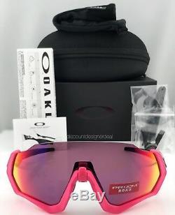 Lunettes De Soleil Oakley Flight Jacket Oo9401-0637 Noir Poli Rose Prizm Road