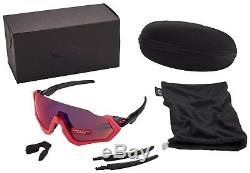 Lunettes De Soleil Oakley Flight Jacket Oo9401-0637 Verres Prizm Road Neib Pink Bnib