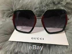Lunettes De Soleil Oversize Gg0106s 007 De Gucci Pour Femmes, Fabriquées Au Japon