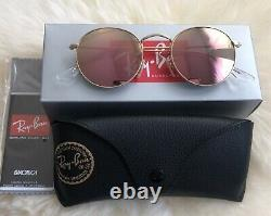 Lunettes De Soleil Ray Ban Rb3447 Round Metal 50-21, Gold Frame Us