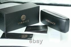 Lunettes De Soleil Versace Femmes Ve4358a Gb1/87 Noir & Or Avec Verre Gradient Gris Nouveau