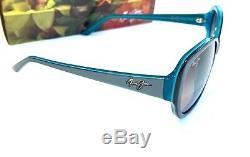 Maui Jim Swept Away Lunettes De Soleil Aqua Blue Polarized Grey Lens Gs733-06b