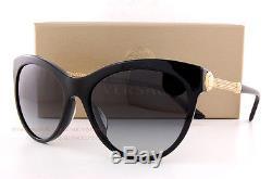 Neuf Lunettes De Soleil Versace Ve 4292 Gb1 / 8g Noir / Gradient Grey Femmes