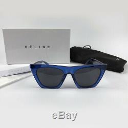 New Celine CL 41468 / S Geg / Ku Edge Femmes Lunettes De Soleil Bleu Lunettes Cats Eyes 41468
