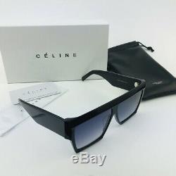 New Celine Cl40030f Noir Gris Lunettes De Soleil Rectangulaires Place Femmes