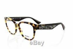 New Miu Miu Mu06ov 7s01o1 Lumière Havana Brown Stardust Eyeglasses Fast Frame Navire