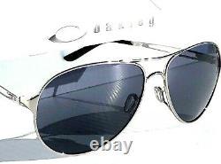 New Oakley Caveat Silver Polarisized Galaxy Grey Women's Aviator Sunglass 4054