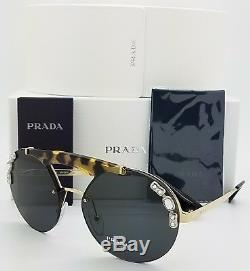 New Prada Lunettes De Soleil Pr52us I8n5s0 Or Gris Aviator Fashion Pr 53 Genuine