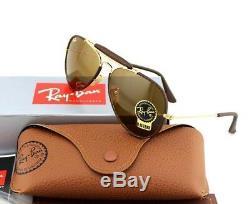 New Ray-ban Aviators Outdoorsman Craft B-15 Lentille En Verre Lunettes De Soleil Rb 3422-q 9041