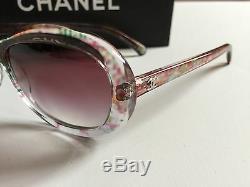 Nouveau Authentique Chanel Ch 5219 1313 57mm Résumé Arc Rose Lunettes De Soleil Dégradé