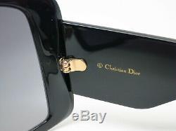 Nouveau Authentique Christian Dior Diorsolight 1 8079o Noir Lunettes De Soleil Si Léger