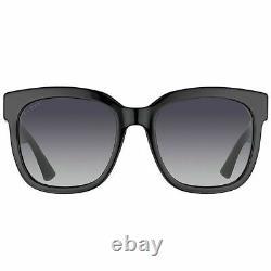 Nouveau Authentique Gucci Gg0034s 002 Lunettes De Soleil En Plastique Noir Gris Gradient Lens
