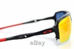 Nouveau Authentique Oakley Triggerman Encre Noire Ruby Iridium Lunettes De Soleil Oo 9266-10