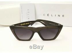 Nouveau Celine Cl41468 / S 807 / Ir Black Cat Eye Femmes Lunettes De Soleil 100% Authentique