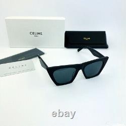 Nouveau Celine Edge CL 41468 / S 807 / Ir Noir Gris Lunettes De Soleil Cat Eye Lunettes Femmes