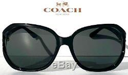 Nouveau Coach Hc8233 En Noir Avec Les Lunettes De Soleil L1033 Pour Femmes