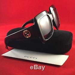 Nouveau Gucci Gg0053s 001 Noir 54mm Surdimensionné Urbain Vintage Carré Femmes Lunettes De Soleil